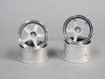 RC Car 1/10 RIMS WHEELS Package Kawada 5 STAR STAGGER - Plated - SET OF 4