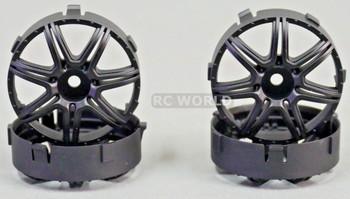 Tetsujin MARGUERITE RC Car Wheels BLACK Adjustable Offset 3-6-9mm