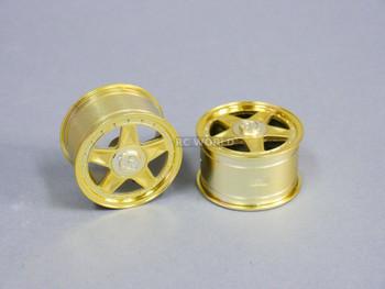 RC Car 1/10 RIMS Wheels KAWADA 5 Star WIDE 31mm GOLD *SET OF 2* TU28G