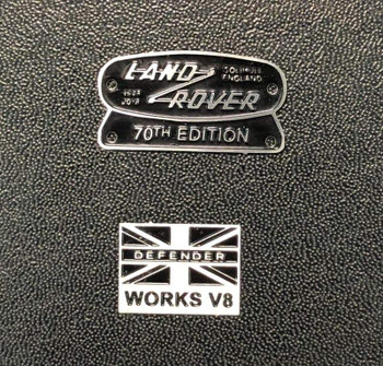 1/10 land rover decal badge