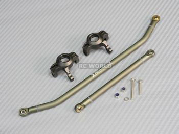 New Axial Wraith Metal Steering Links And Metal Knuckles Gun Metal.