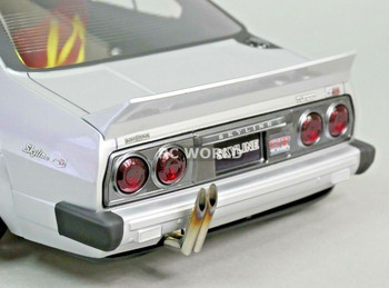 Japan Style Vertical Bamboo scale exhaust for rc drift cars.