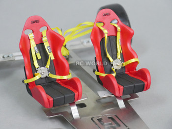 RC Scale racing Seat belts for interiors Yellow.