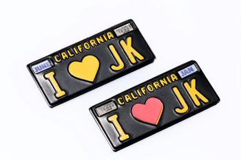 Scale 1/10 Jeep JK License Plates