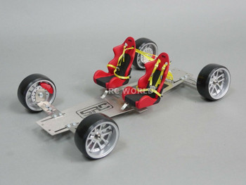 rc scale metal chassis for display