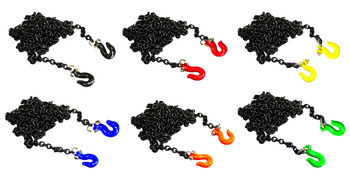 1/10 Scale Metal BLACK CHAIN With Hooks