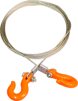 1/10 Silver Wire with Orange hooks
