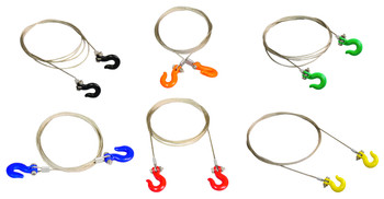 1/10 Scale Metal SILVER WIRE With Hooks
