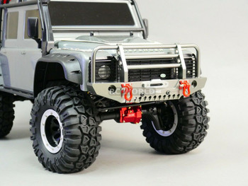 Traxxas Defender METAL Front Bumper Gun Metal + LED