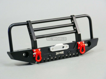 Traxxas TRX-4 DEFENDER METAL Front Bumper GUARD BLACK