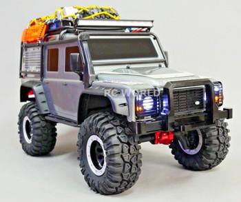 Traxxas TRX-4 DEFENDER FRONT METAL Bumper BULL NOSE Black