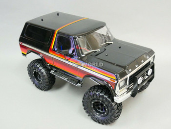 Traxxas TRX-4 BRONCO Metal SIDE STEP Board SILVER