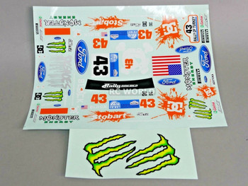 RC 1/10 Car DRIFT Decals MONSTER DC BLOCK Ford Focus Rally DECALS 13X10