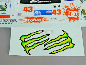 RC 1/10 Car DRIFT Decals MONSTER DC BLOCK Ford Focus Rally DECALS
