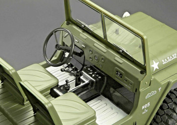 Scale Interior STEERING, WIPERS, PEDALS, MIRROR  Jeep Warrior