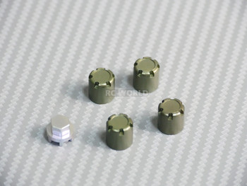 METAL WHEEL CAPS Lug Nuts (4PCS) Gun Metal