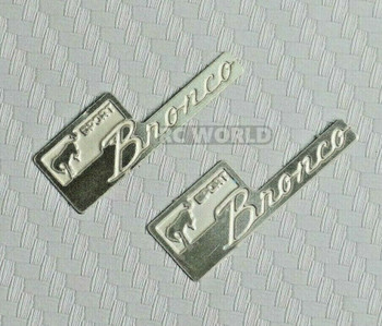 Traxxas BRONCO Sport 1/10 Metal Logo Badge (2pcs)