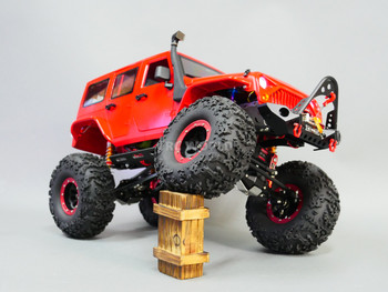 Custom Built 1/10 RC JEEP WRANGLER RUBICON V8 Rock Crawler 8.4V *RTR* Red