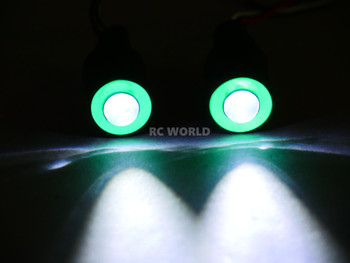 LED Lights GREEN Halo Angel Eyes Large 17mm Headlights