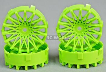 Tetsujin RC Car Wheels Disc Adjustable Offset 3/6/9mm -Dahlia Green -4 pcs