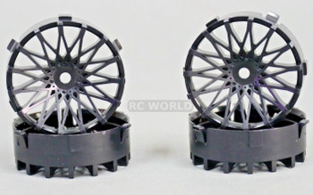 Tetsujin RC Car Wheels Disc Adjustable Offset 3/6/9mm -Dahlia Black -4 pcs
