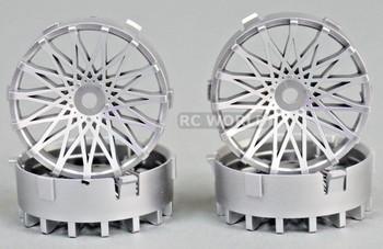 Tetsujin RC Car Wheels Disc Adjustable Offset 3/6/9mm -Dahlia Silver -4 pcs