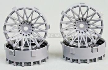Tetsujin RC Car Wheels Disc Adjustable Offset 3/6/9mm -Dahlia Grey
