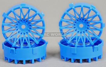 Tetsujin RC Car Wheels Disc Adjustable Offset 3/6/9mm -Dahlia Blue -4 pcs