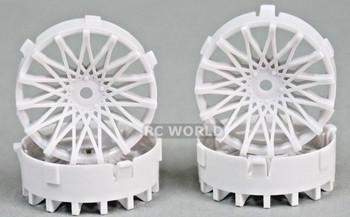 Tetsujin RC Car Wheels Disc Adjustable Offset 3/6/9mm -Dahlia White -4 pcs