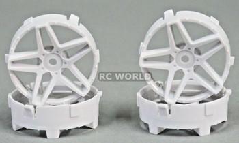 Tetsujin RC Car Wheels Disc Adjustable Offset 3/6/9mm -Southern Cross White -4 pcs