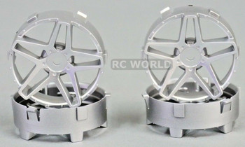 Tetsujin RC Car Wheels Disc Adjustable Offset 3/6/9mm -Southern Cross Silver -4 pcs