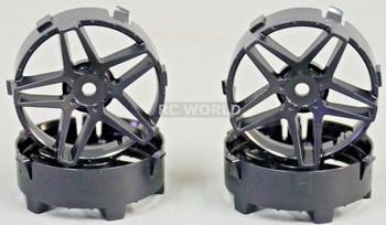 Tetsujin RC Car Wheels Disc Adjustable Offset 3/6/9mm -Southern Cross Black -4 pcs