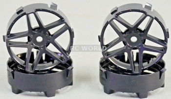 Tetsujin SOUTHERN CROSS RC Car Wheels INSERTS Disk  Adjustable Offset  - SOLID BLACK - (4 pcs ) TT-7560