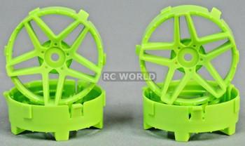 Tetsujin RC Car Wheels Disc Adjustable Offset 3/6/9mm -Southern Cross Green -4 pcs