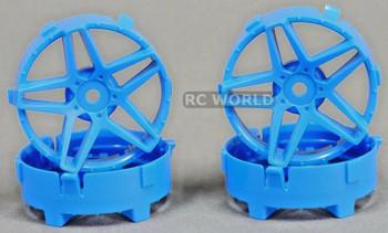 Tetsujin RC Car Wheels Disc Adjustable Offset 3/6/9mm -Southern Cross Blue -4 pcs