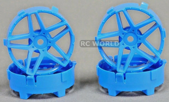Tetsujin RC Car Wheels Disc Adjustable Offset 3/6/9mm -Southern Cross Blue -4 pcs