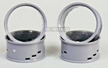 Tetsujin RC Car Wheels Lip Adjustable Offset 3/6/9mm -Grey Lip- 4 pcs