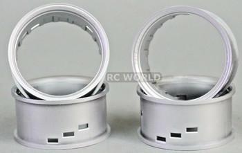 Tetsujin RC Car Wheels Lip Adjustable Offset 3/6/9mm -Silver Lip- 4 pcs