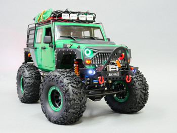 Custom Built 1/10 RC JEEP WRANGLER RUBICON 2-Speed Rock Crawler 8.4V *RTR* Green