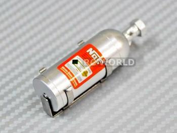 RC 1/10 Scale Nitrous Bottle NOS Nitro W/ Holder Silver