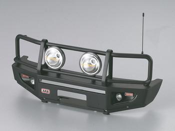 1/10 LC70 Land Cruiser Scale Metal Bumper #48689 Black