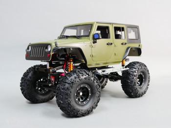 RC 1/10 JEEP WRANGLER RUBICON Rock Crawler Body Green