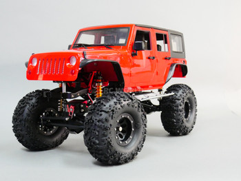 RC 1/10 JEEP WRANGLER RUBICON 4 Door Hard Body Red