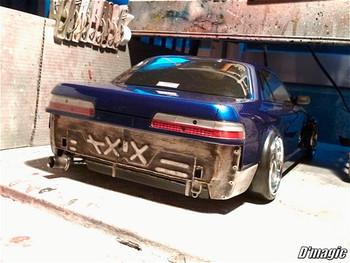 D'Magic 1/10 Rear Light Buckets S13 Silvia DM4-600