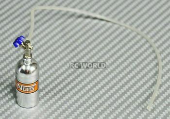 1/10 NOS Nitrous Bottle Nitro Scale Accessories Silver