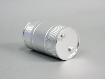 RC 1/10 Metal Drum Container Liquid Storage Silver