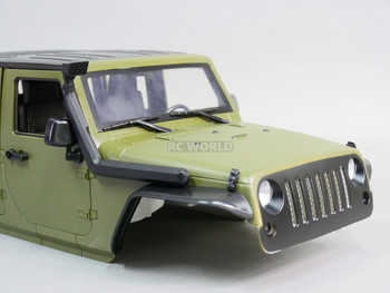 RC 1/10 Scale Jeep Wrangler SNORKEL For Jeep Bodies BLACK Long