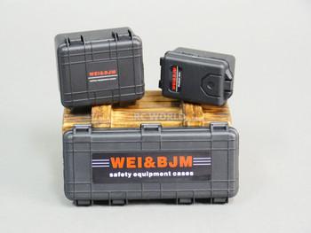 1/10 CARGO Luggage Safety Cases Storage Box (3PCS) BLACK