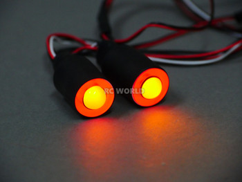 LED Lights RED Halo Angel Eyes Large 17mm Headlights Yellow Center