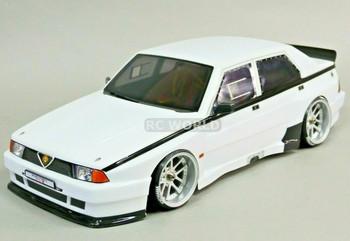 1/10 ALFA ROMEO 75 Turbo EVO Body Shell 190mm WHITE *FINISHED*